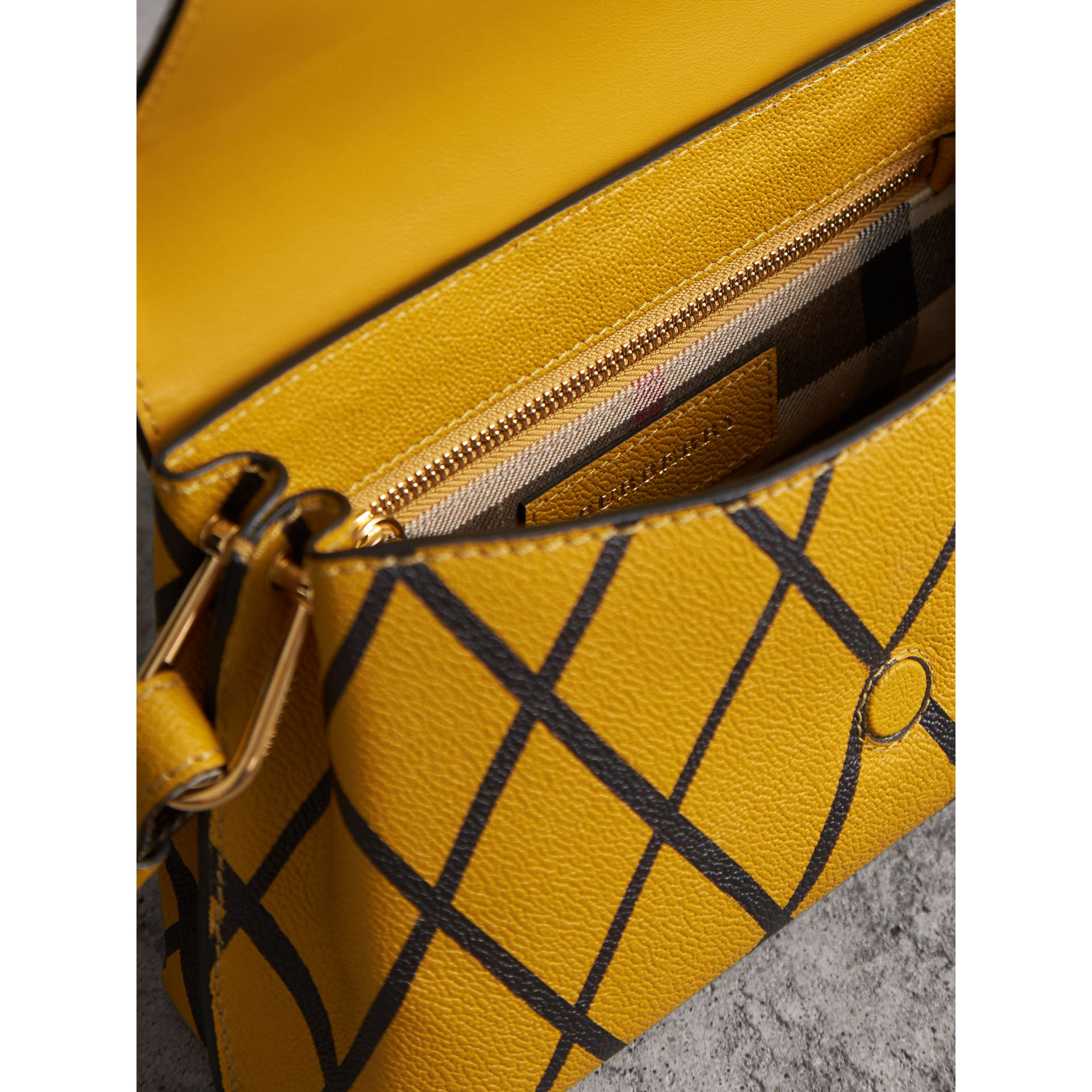 The Buckle Crossbody Bag in Trompe L'oeil Leather in Bright Straw - Women | Burberry - gallery image 6