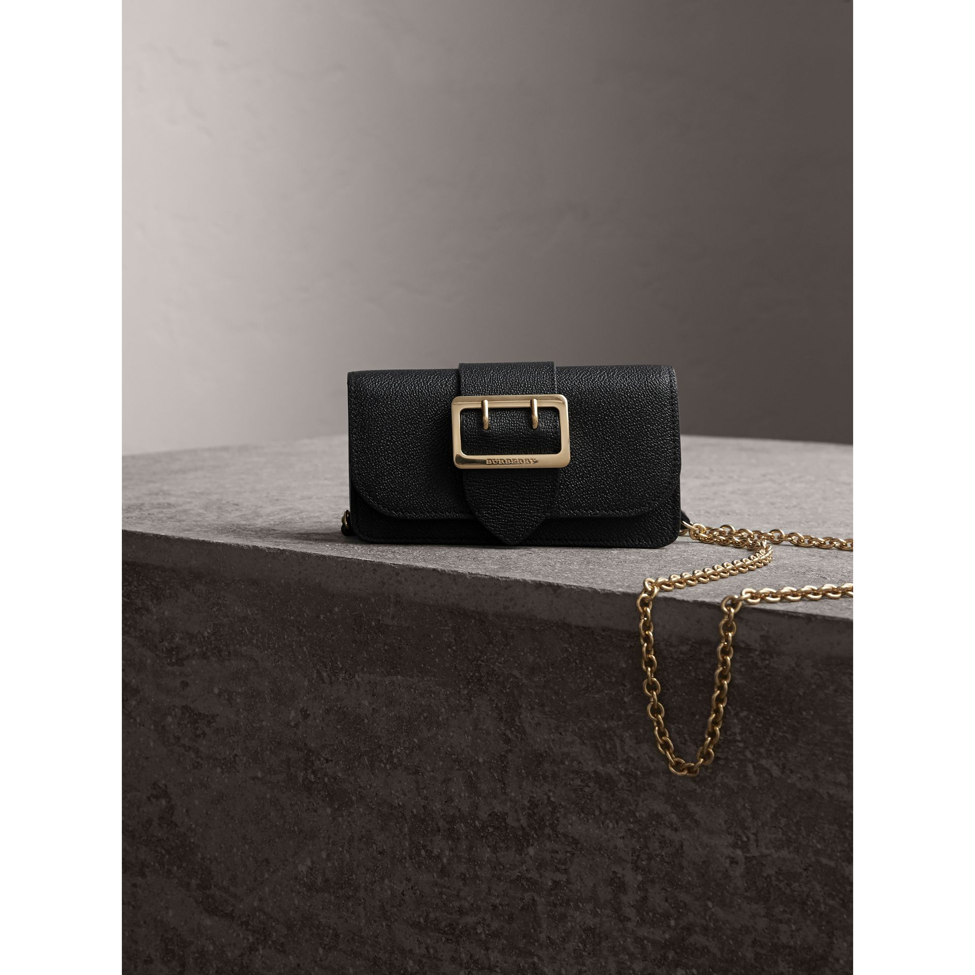 The Mini Buckle Bag in Grainy Leather in Black - gallery image 7