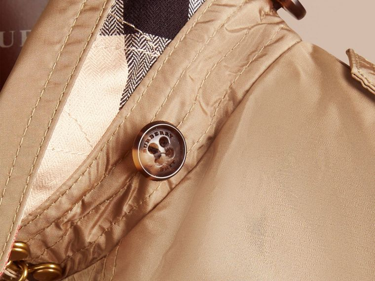 Technical Detachable Hood Trench Coat in Sisal - Girl | Burberry - cell image 1