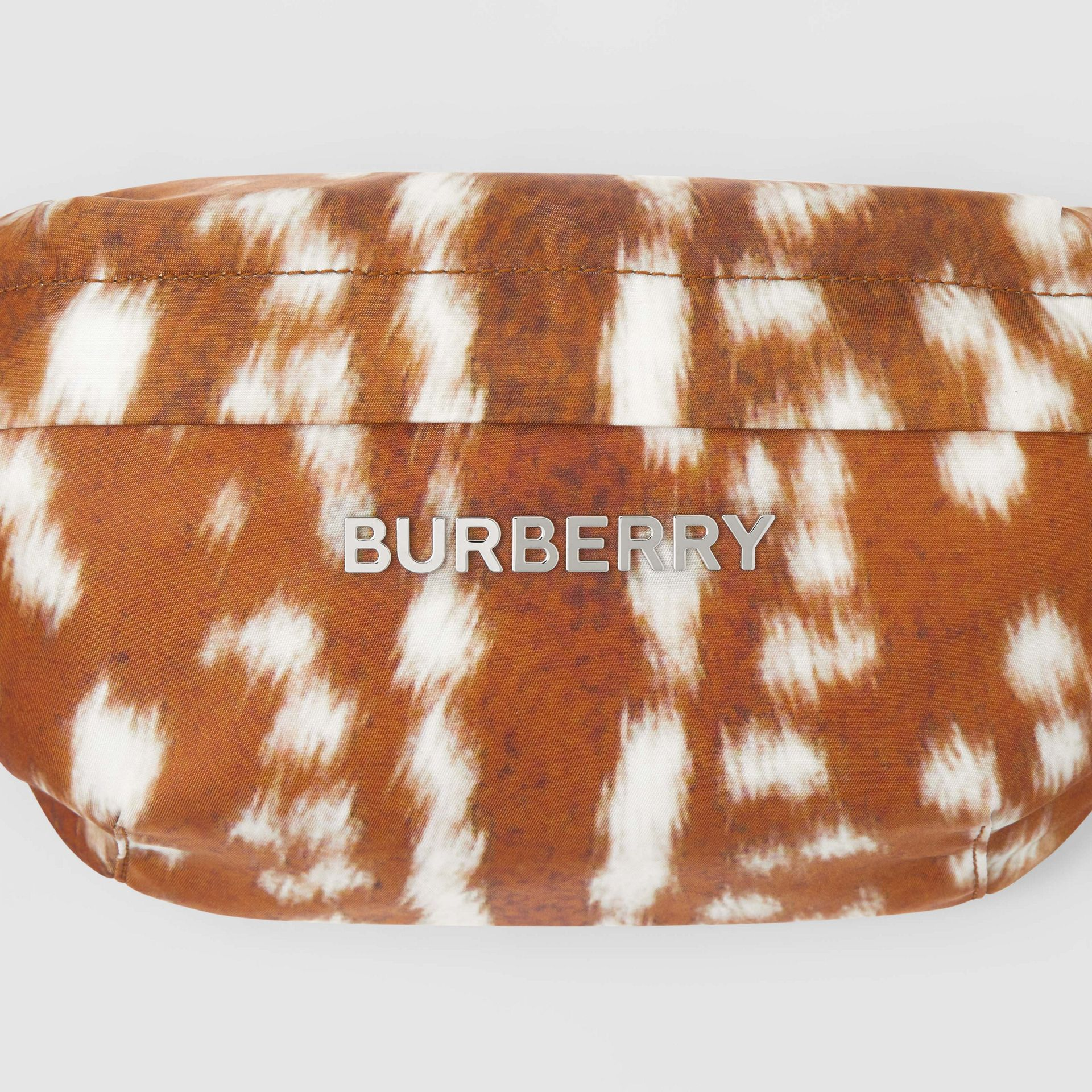 Medium Deer Print Bum Bag in Tan/white - Men | Burberry - gallery image 1