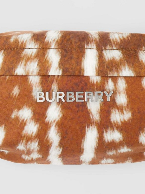 Medium Deer Print Bum Bag in Tan/white | Burberry - cell image 1