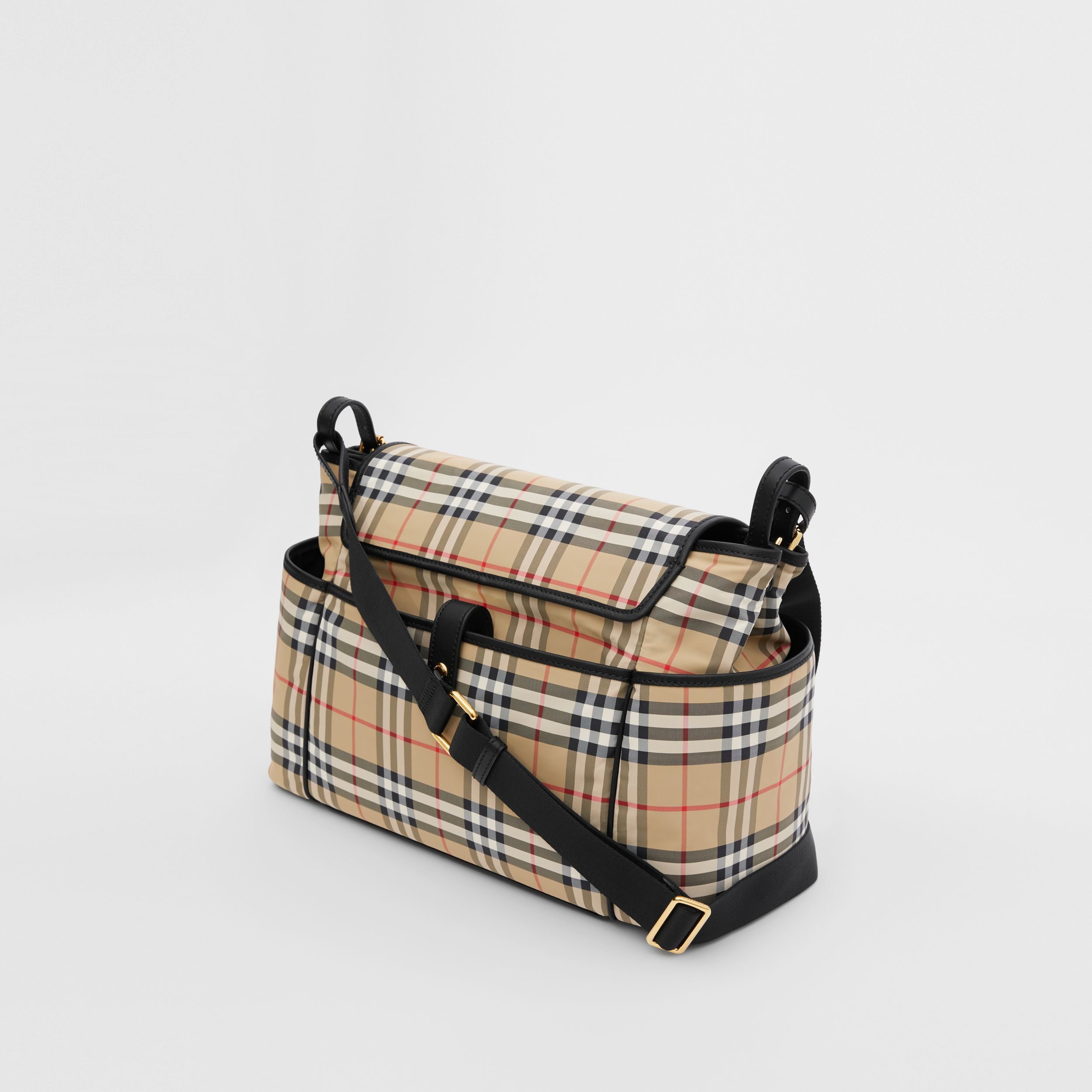 Vintage Check ECONYL® Baby Changing Bag in Archive Beige - Children | Burberry - 3