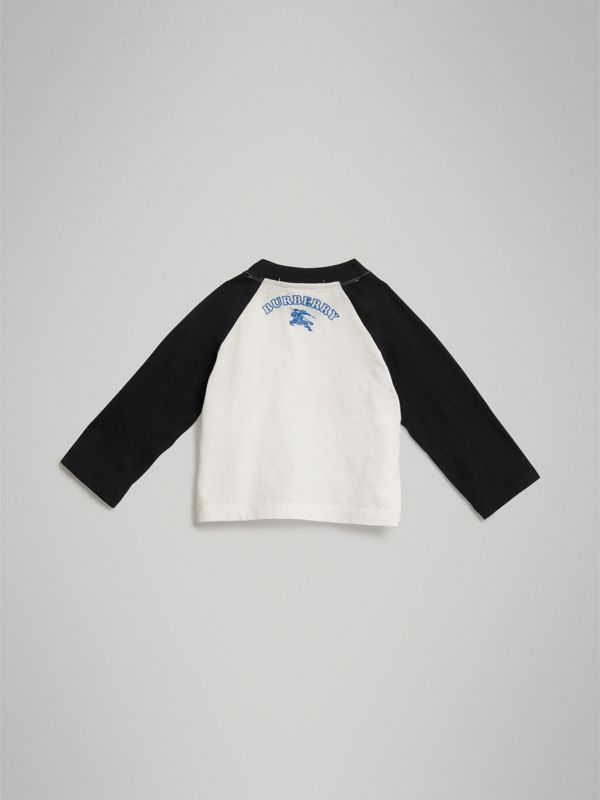 Thomas Bear Raglan-sleeve Cotton Top in White - Children | Burberry Australia - cell image 3