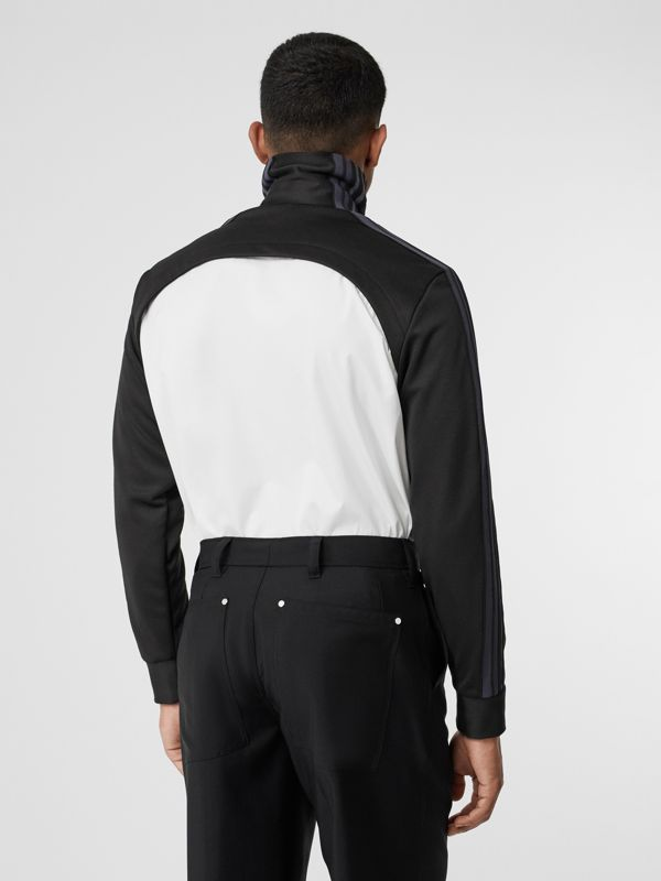 Track Top Panel Cotton Poplin Shirt in Black - Men | Burberry - cell image 2