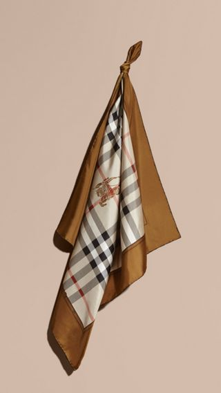 Foulard medio in seta con motivo Horseferry check