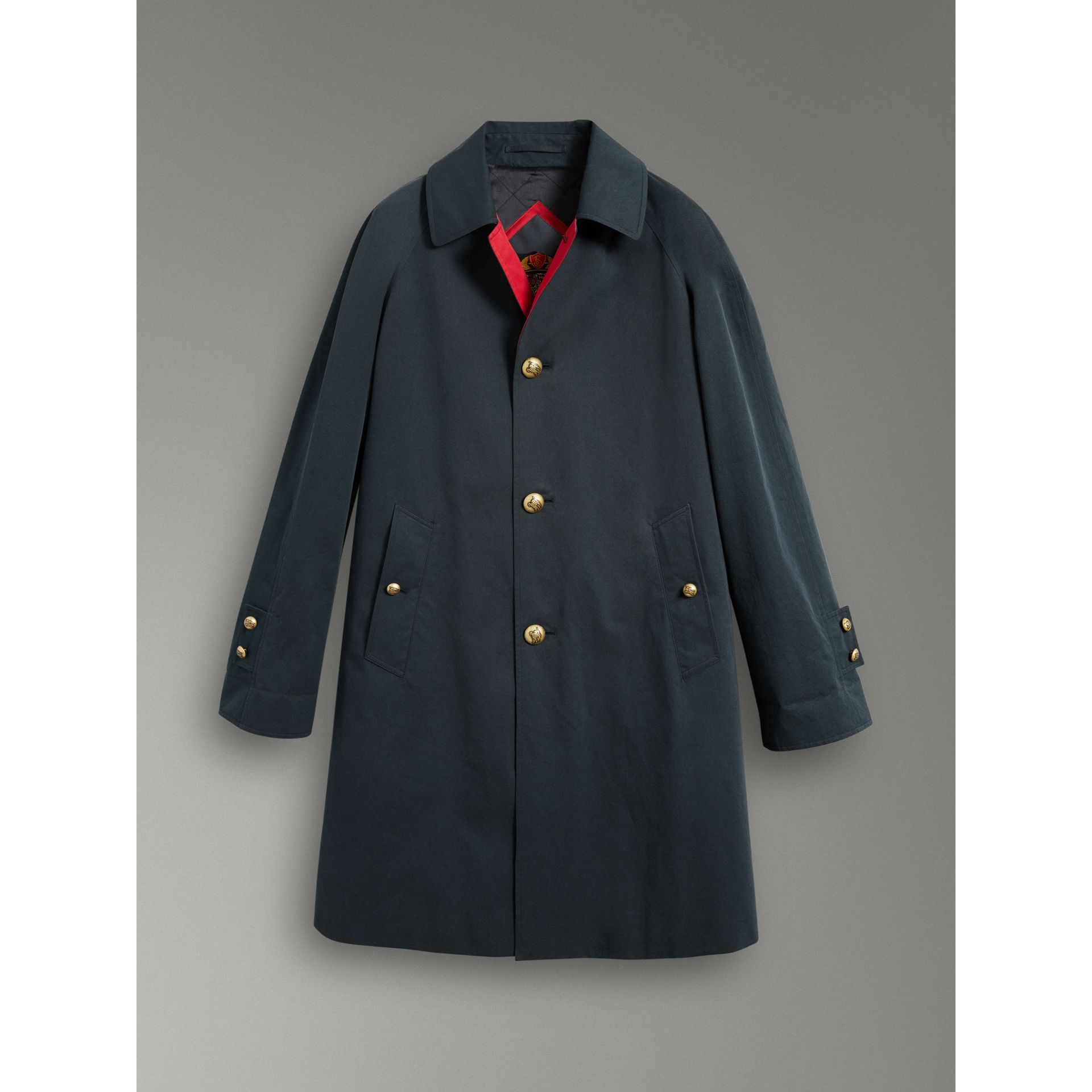Reissued Waxed Cotton Gabardine Car Coat in Navy - Men | Burberry United Kingdom - gallery image 3