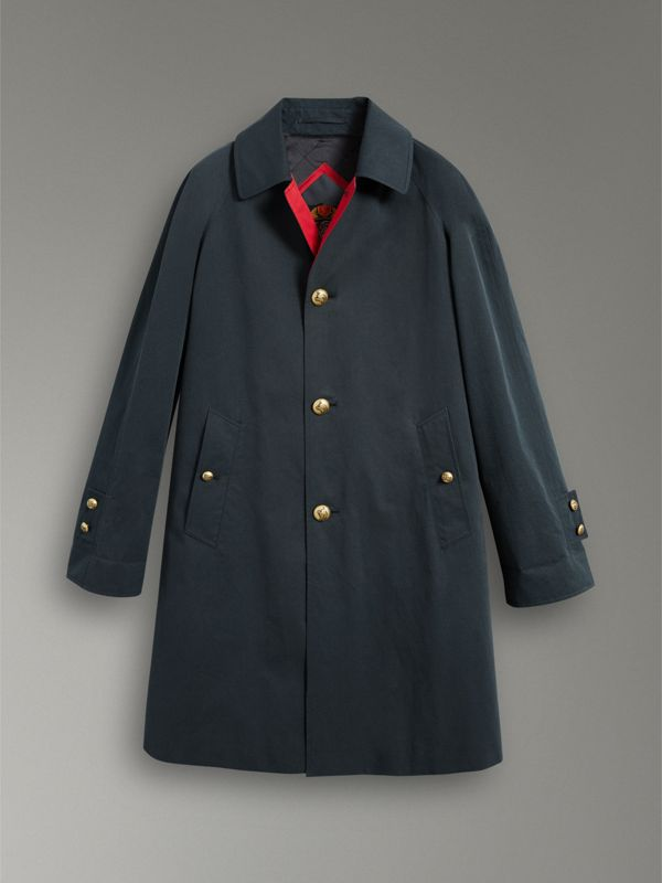 Reissued Waxed Cotton Gabardine Car Coat in Navy - Men | Burberry - cell image 3