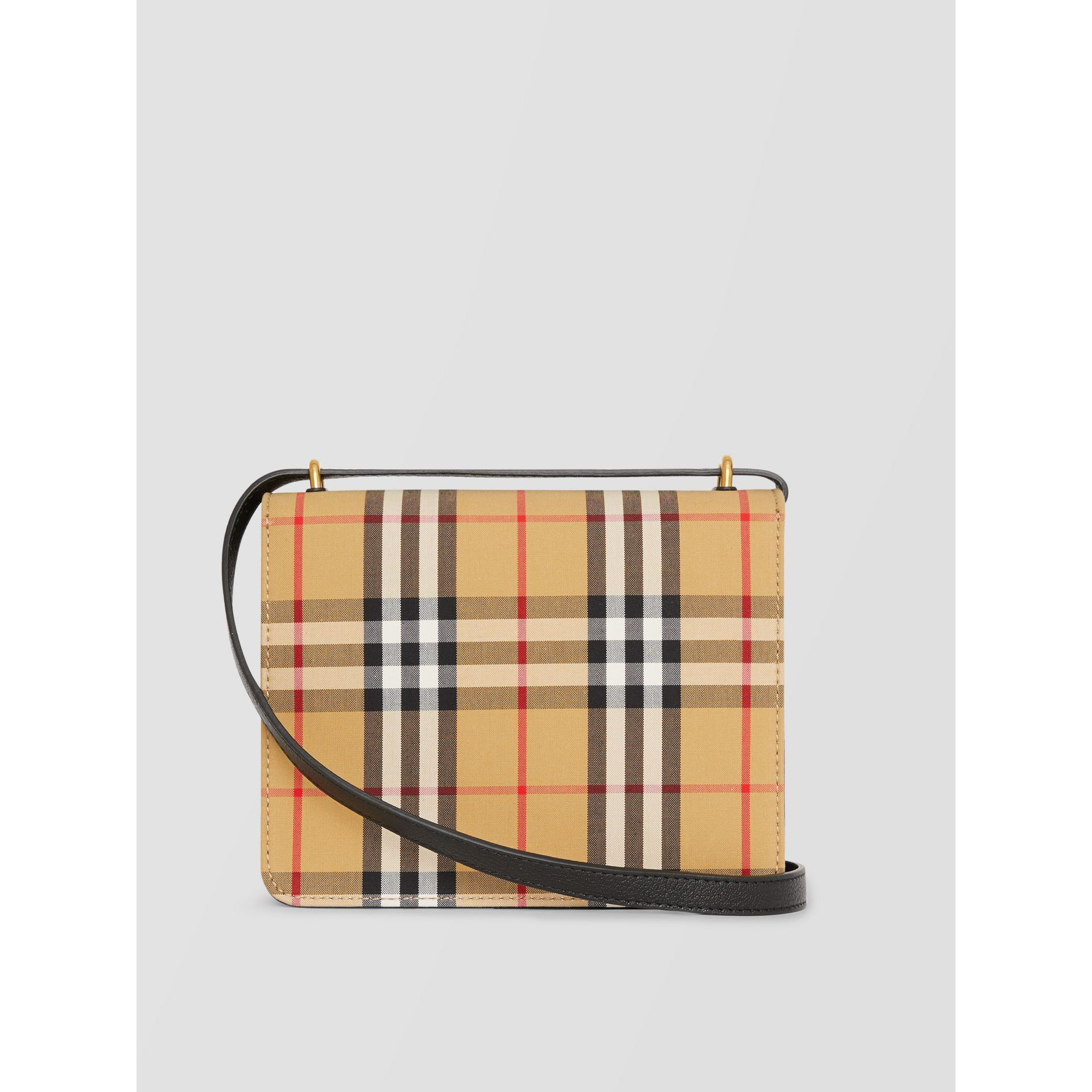 The Small Vintage Check And Leather D-ring Bag in Black/antique Yellow - Women | Burberry - gallery image 2