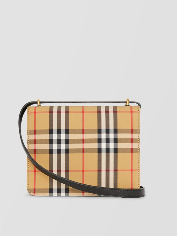 The Small Vintage Check And Leather D-ring Bag in Black/antique Yellow - Women | Burberry - cell image 2