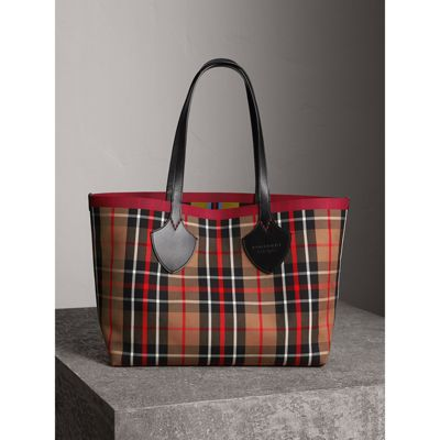 The Giant Medium Tote Bag in Yellow Cotton Burberry XOrrdY7Lt