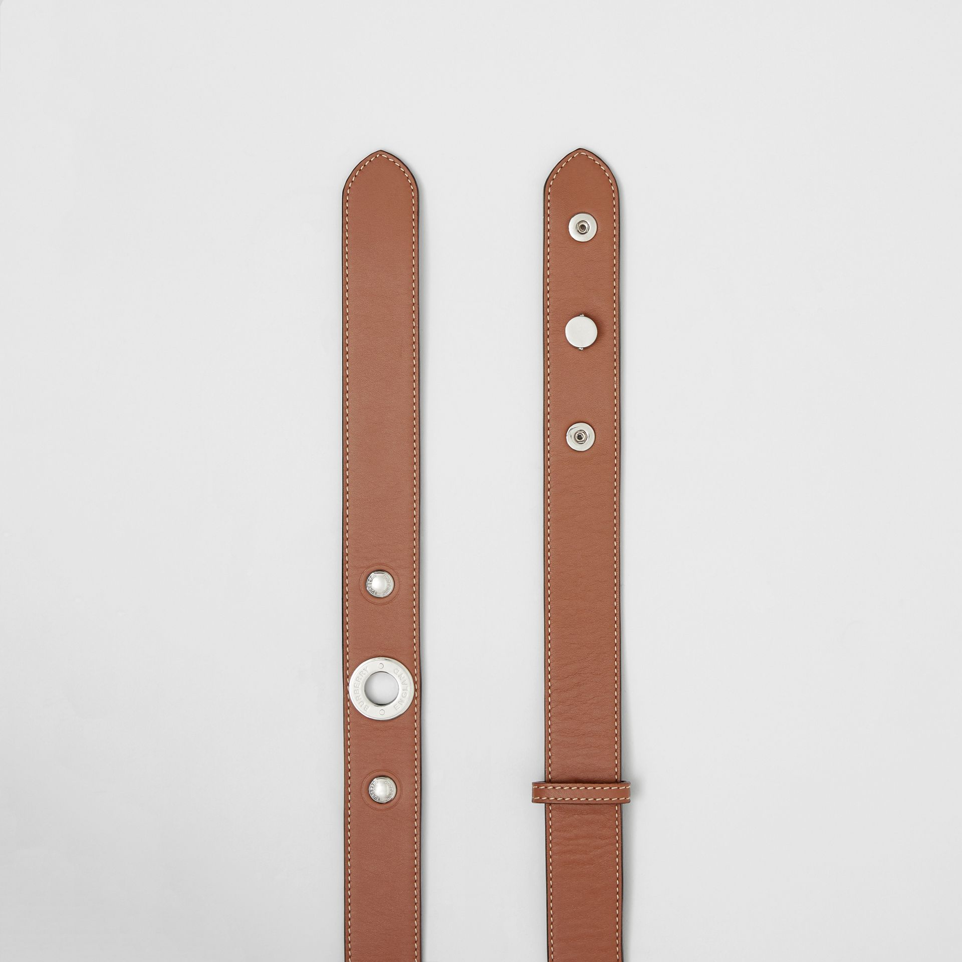 Triple Stud Leather Belt in Malt Brown - Women | Burberry Singapore - gallery image 5