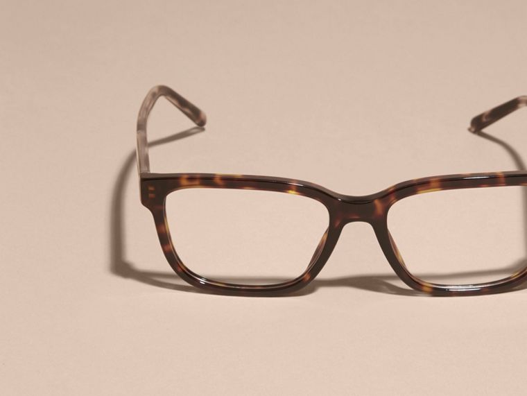 Check Detail Rectangular Optical Frames Light Russet Brown - cell image 4