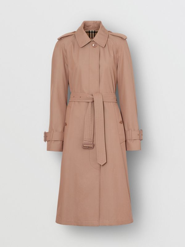 Tropical Gabardine Belted Car Coat in Pink Apricot - Women | Burberry United States - cell image 3
