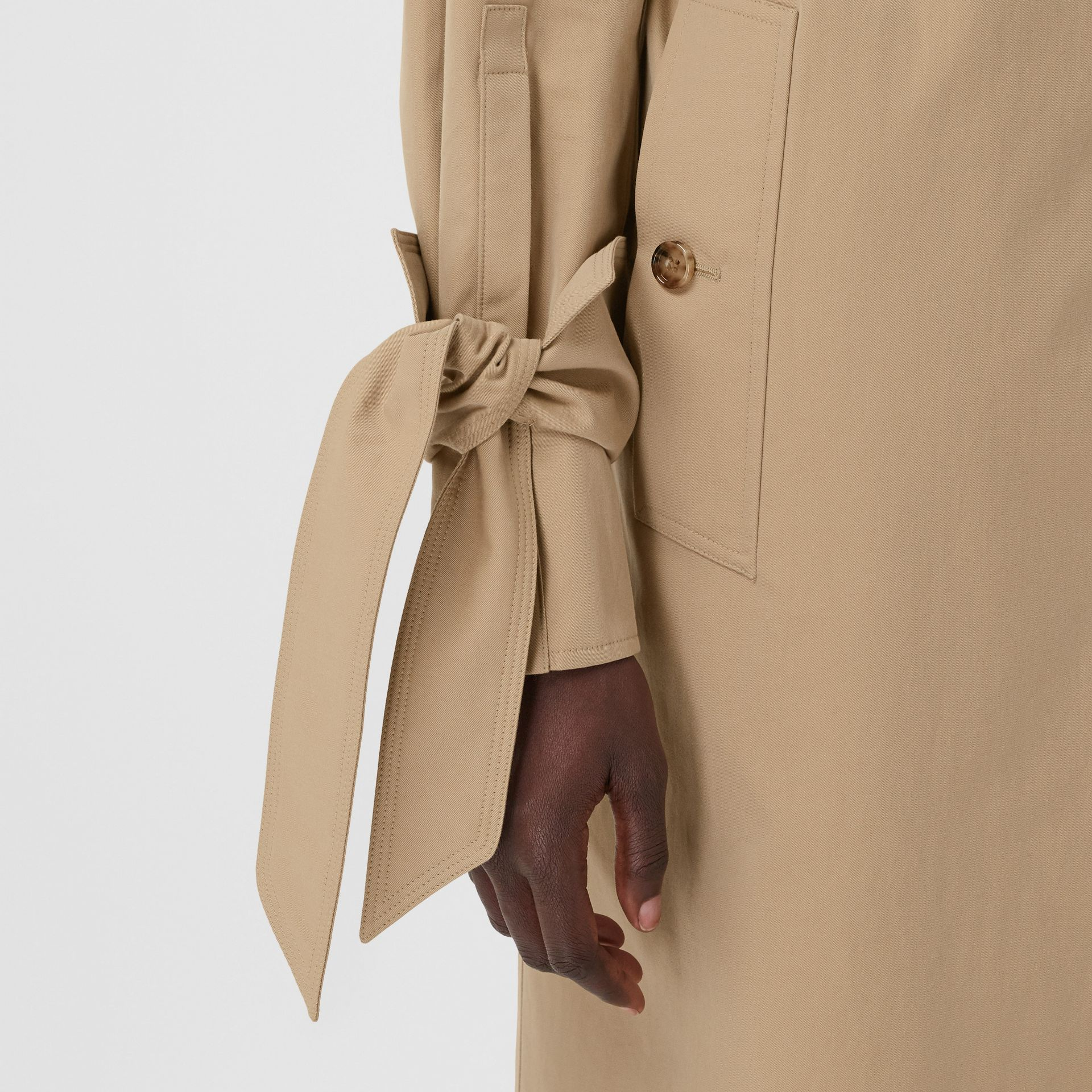 Tropical Gabardine Car Coat in Honey - Women | Burberry - gallery image 5