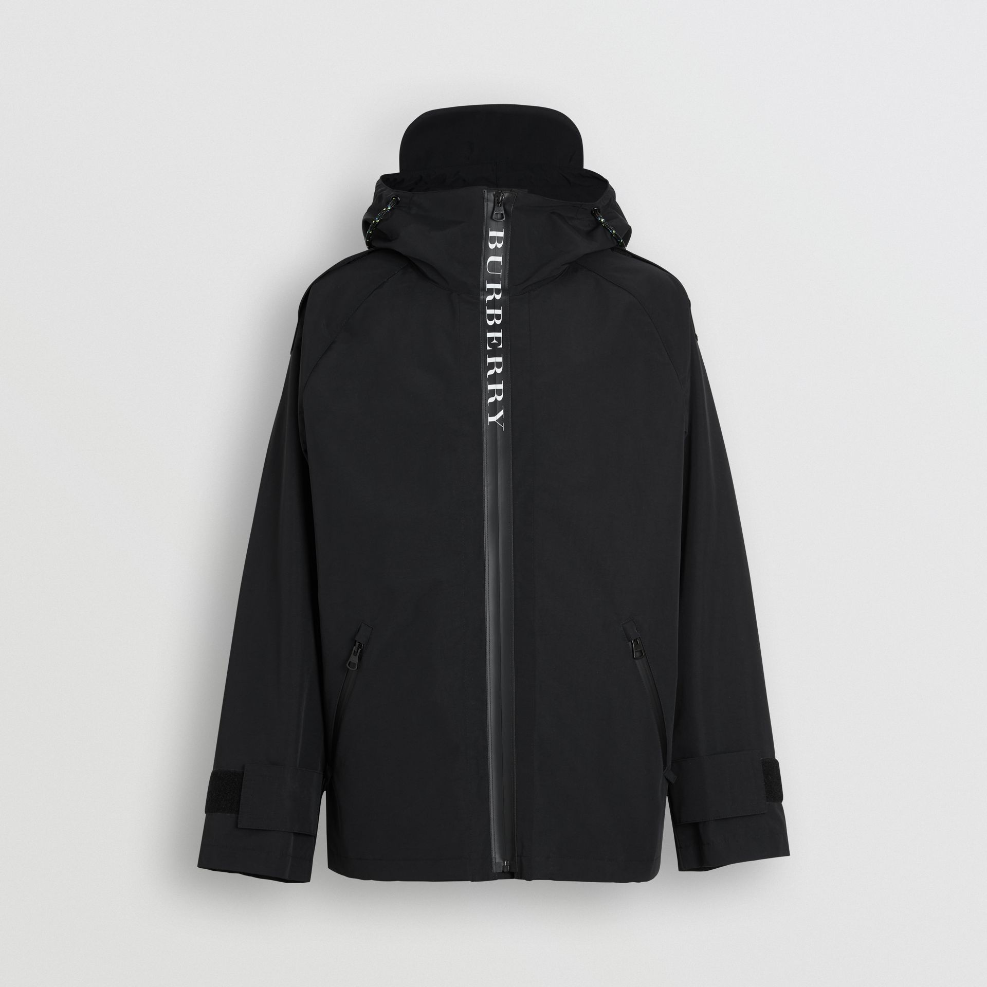 Bungee Cord Detail Hooded Parka in Black - Men | Burberry Hong Kong - gallery image 3