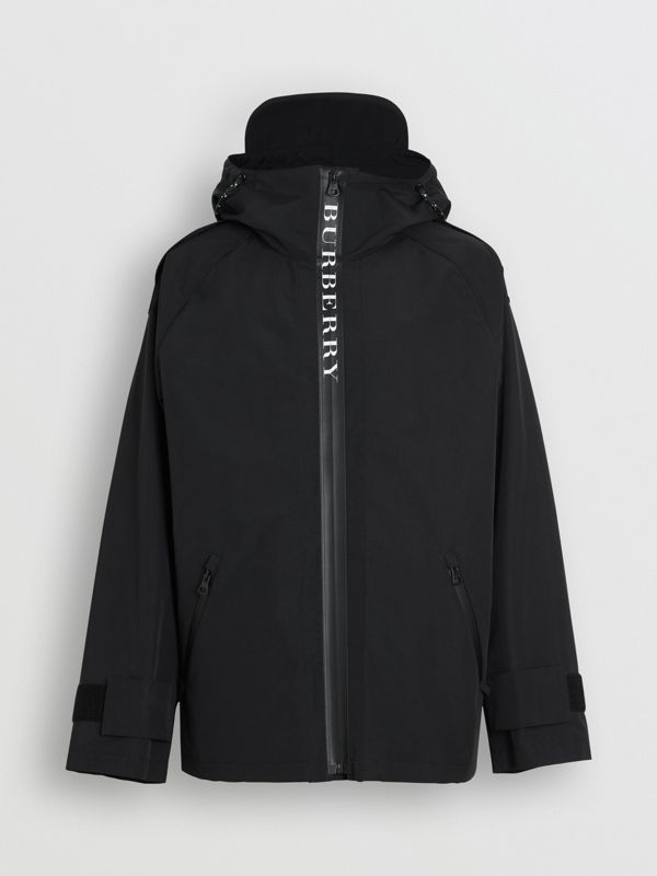 Bungee Cord Detail Hooded Parka in Black - Men | Burberry United Kingdom - cell image 3