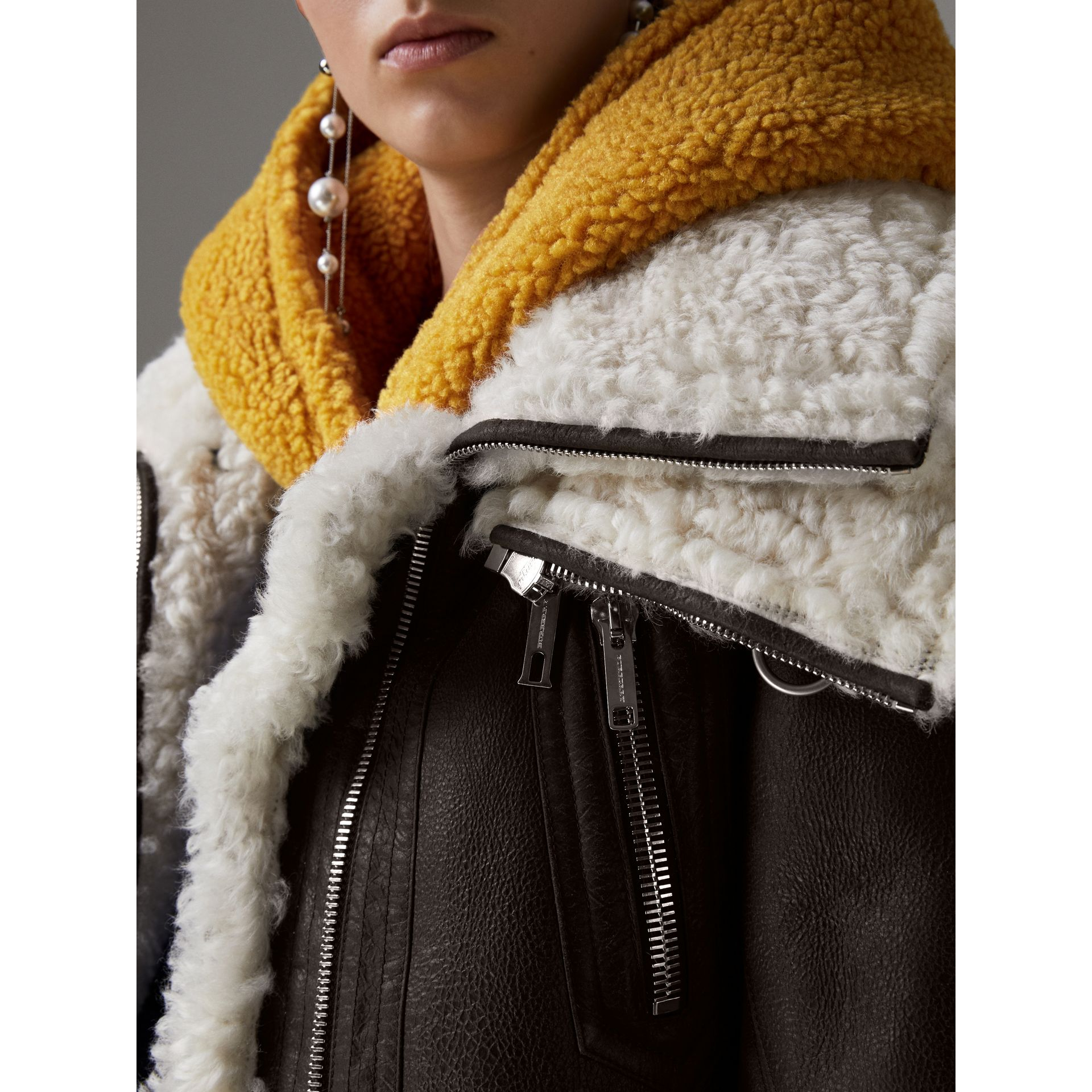 Reissued 2010 Shearling Aviator in Chocolate - Women | Burberry Canada - gallery image 1