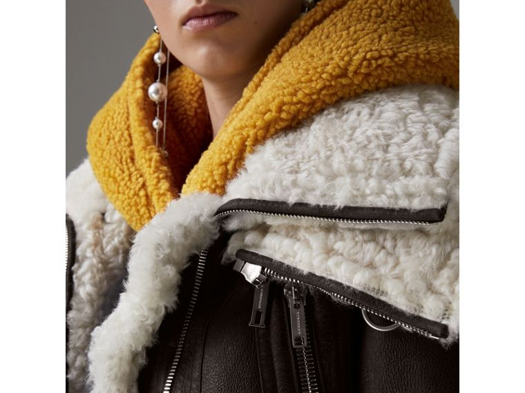 Reissued 2010 Shearling Aviator in Chocolate - Women | Burberry Canada - cell image 1