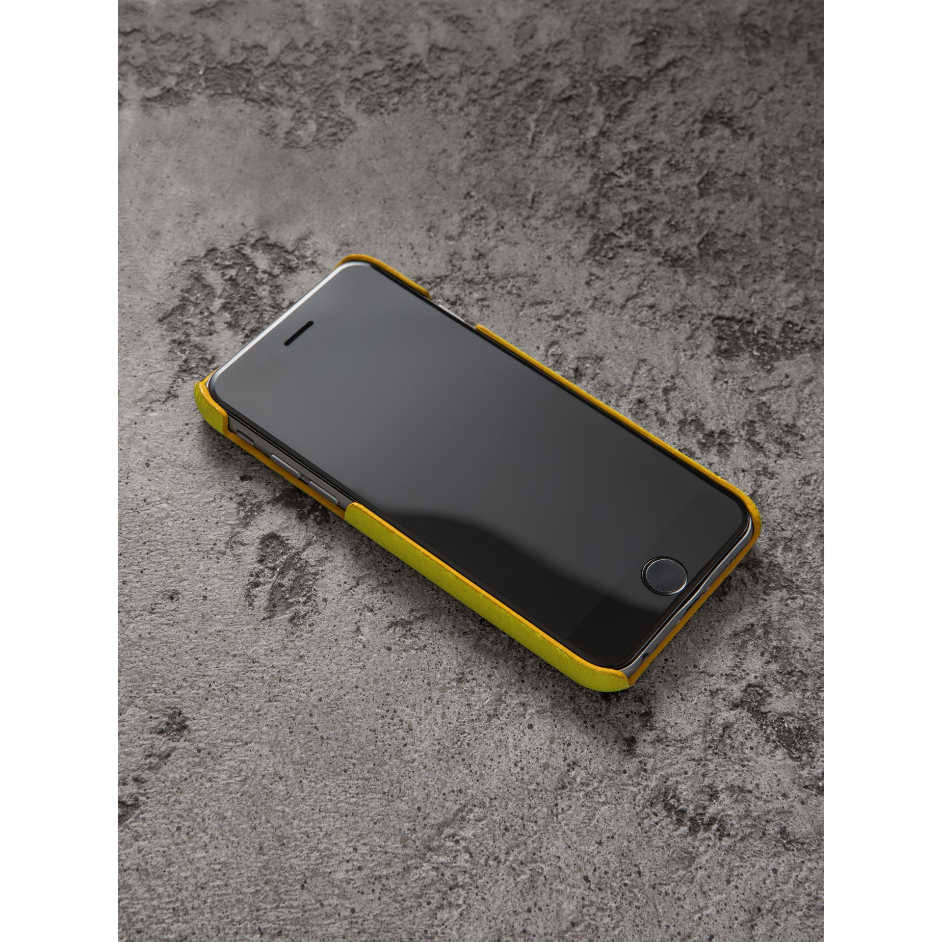 Neon Leather iPhone 7 Case in Bright Yellow | Burberry United Kingdom - gallery image 2