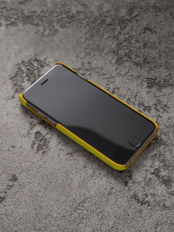 Neon Leather iPhone 7 Case in Bright Yellow | Burberry - cell image 2
