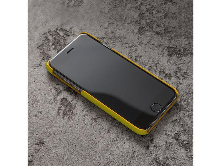 Neon Leather iPhone 7 Case in Bright Yellow - Women | Burberry - cell image 2