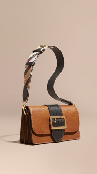 The Medium Buckle Bag in Textured Leather
