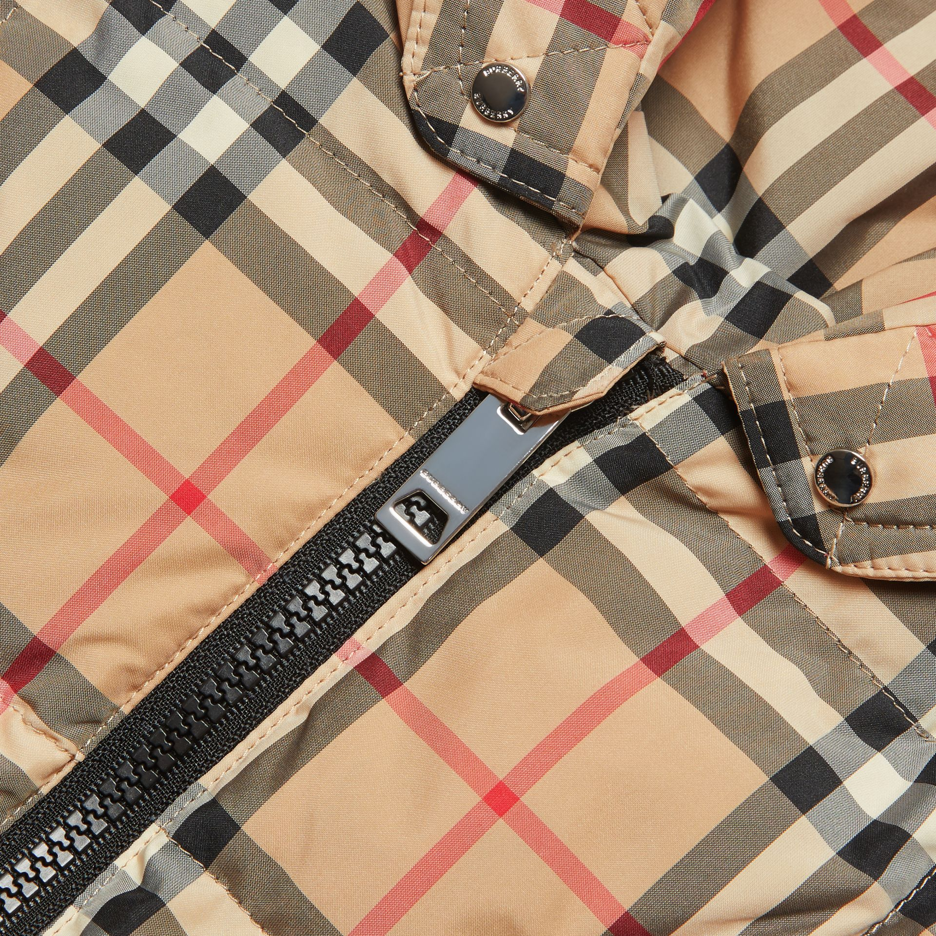 Vintage Check Down-filled Puffer Suit in Archive Beige - Children | Burberry United Kingdom - gallery image 1