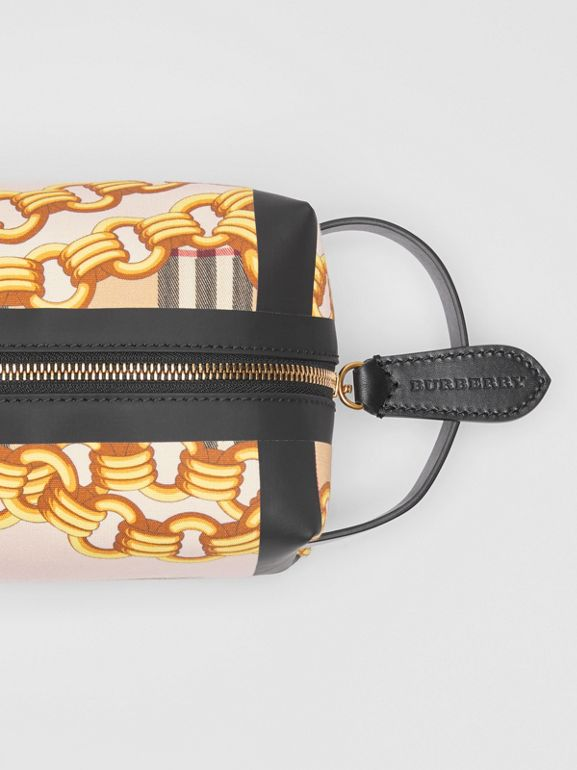 Archive Scarf Print Cotton Pouch in Black - Women | Burberry United States - cell image 1