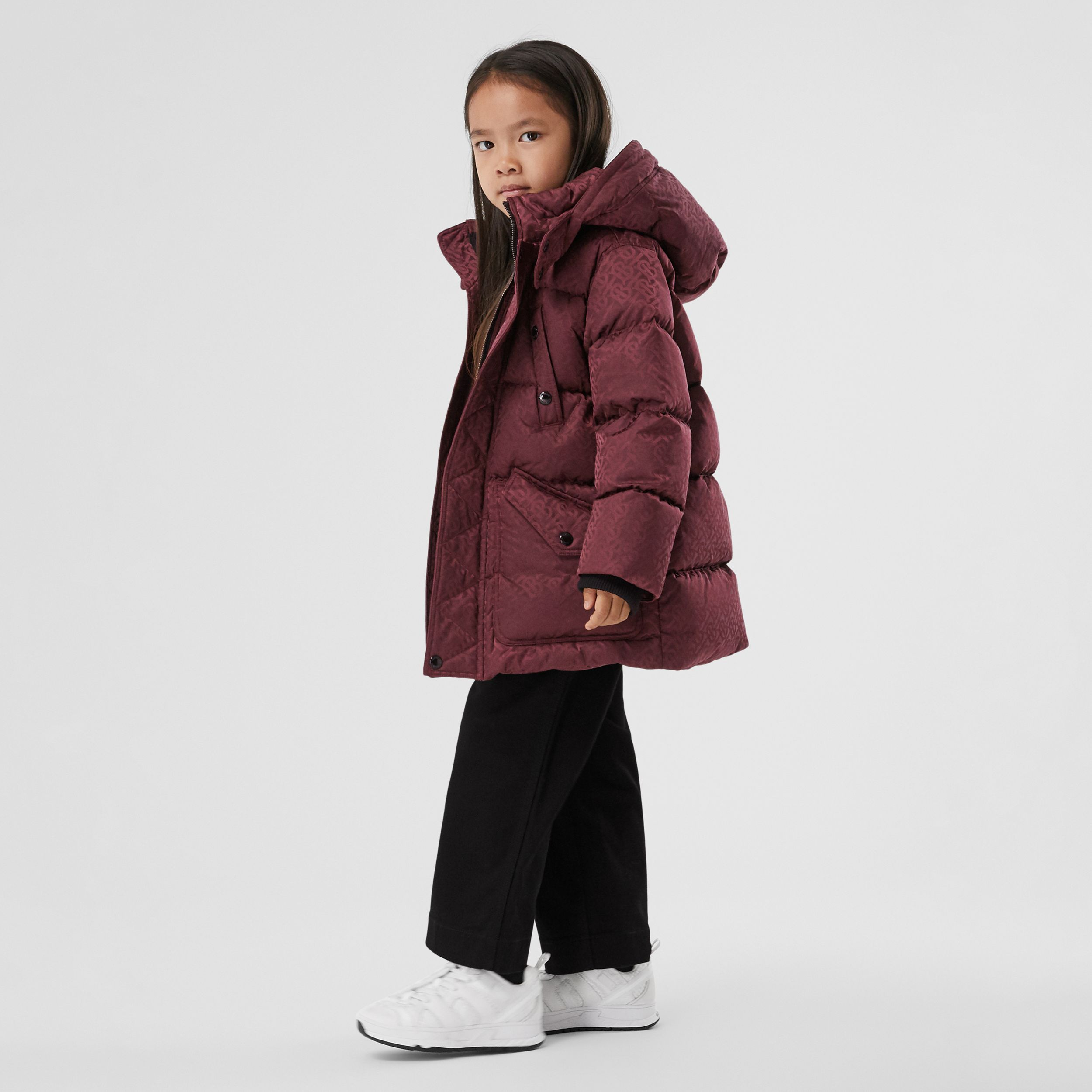 Detachable Hood Monogram Jacquard Puffer Coat | Burberry Hong Kong S.A.R. - 3
