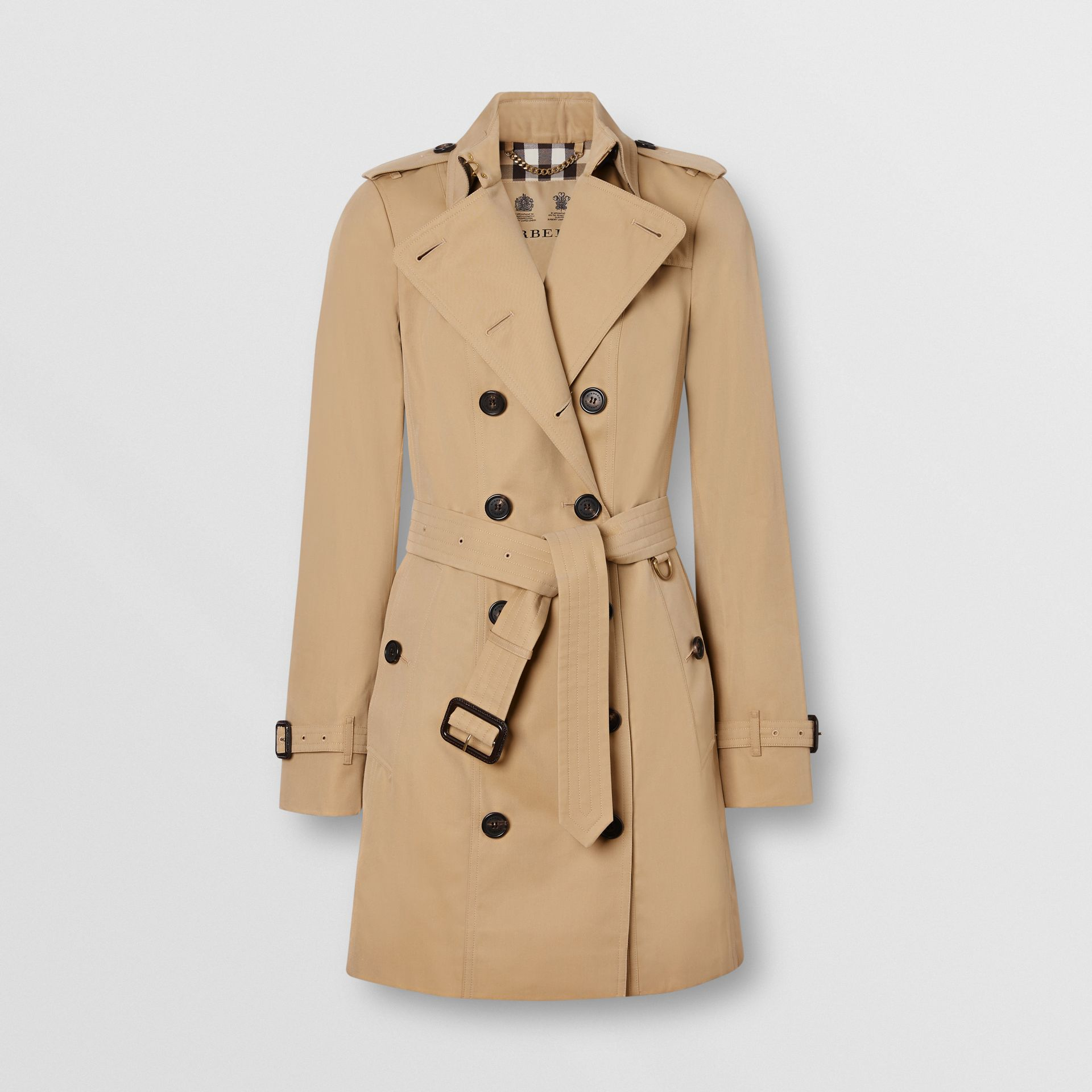 The Sandringham – Mid-length Trench Coat in Honey - Women | Burberry Singapore - gallery image 3