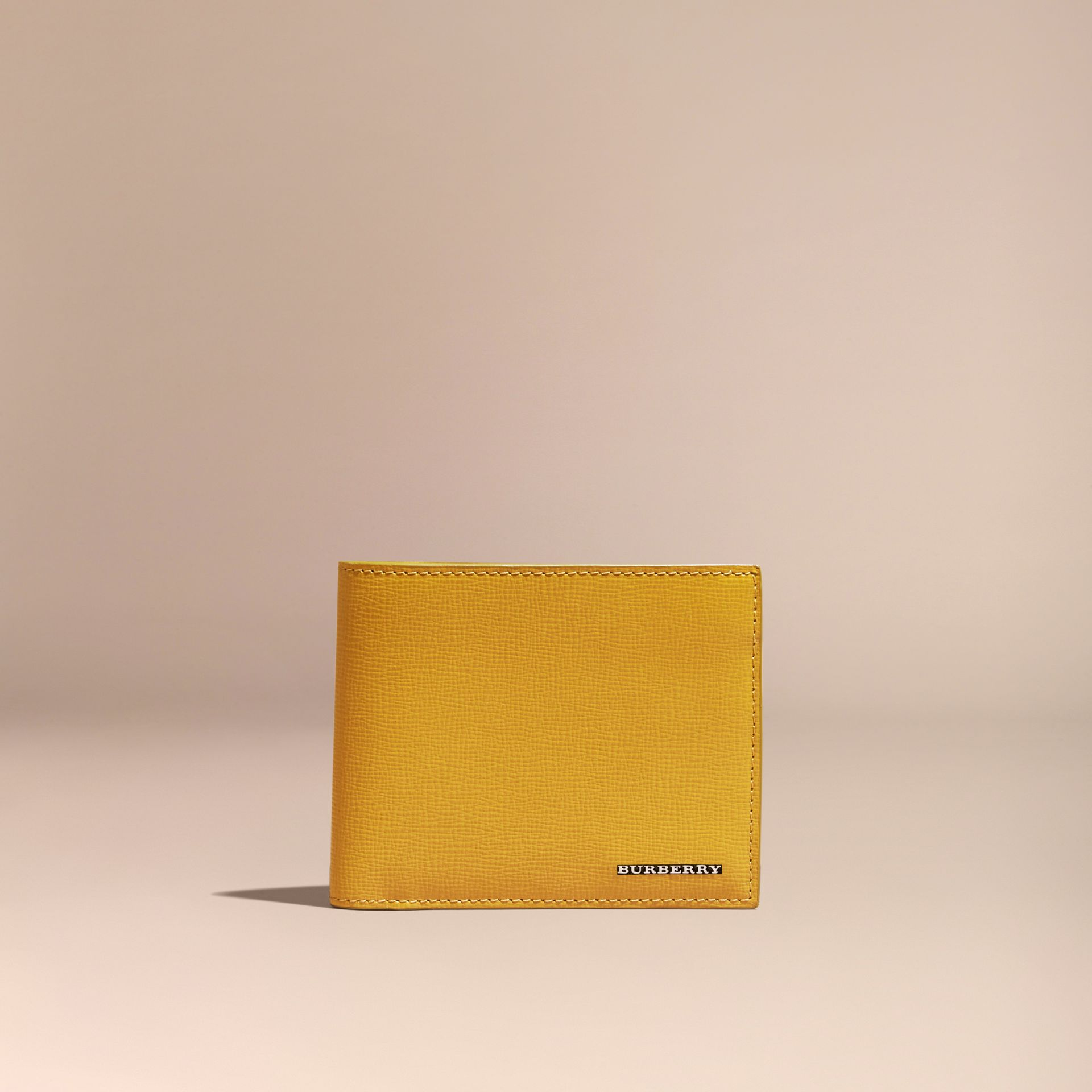London Leather ID Wallet in Larch Yellow - gallery image 6