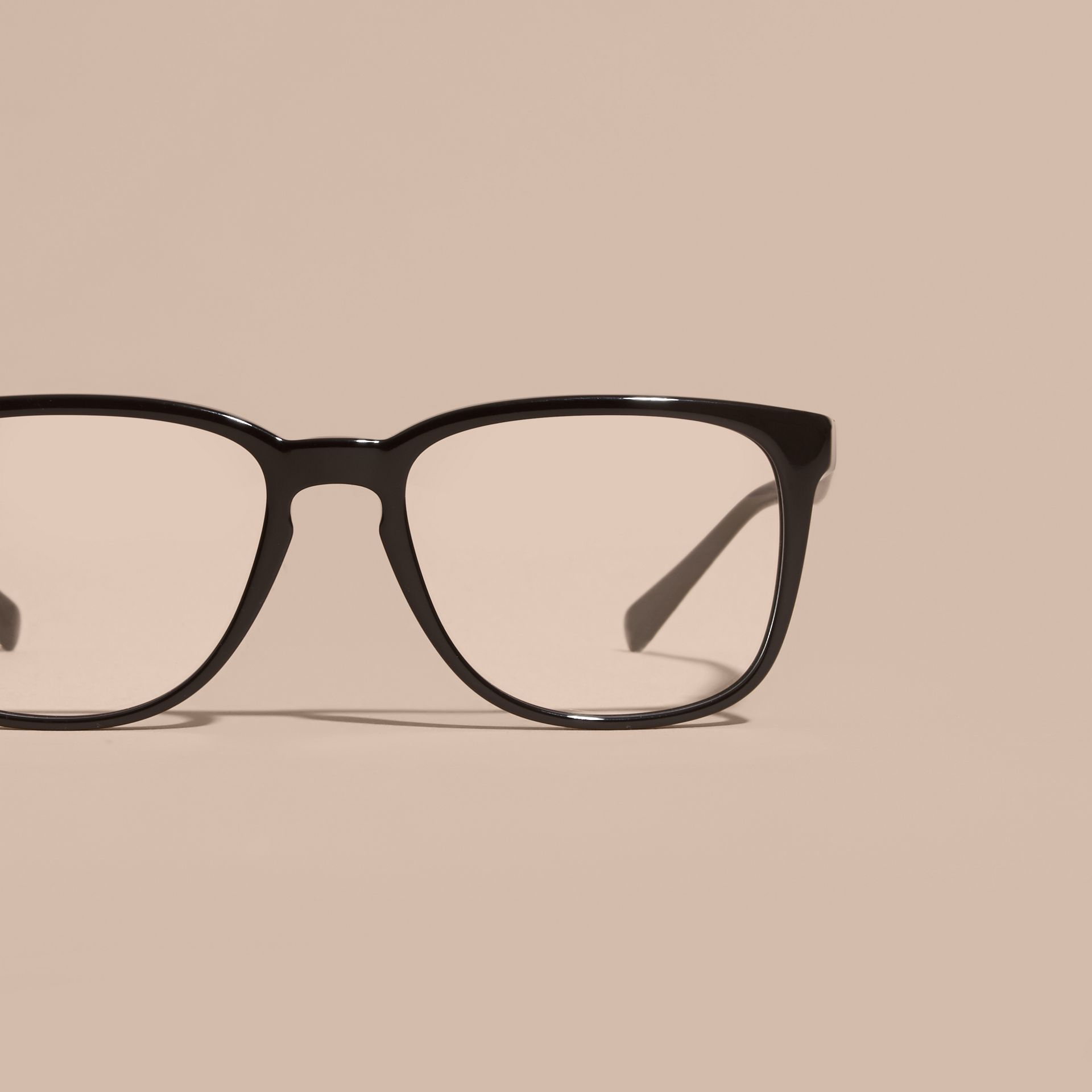 Square Optical Frames in Black - gallery image 3