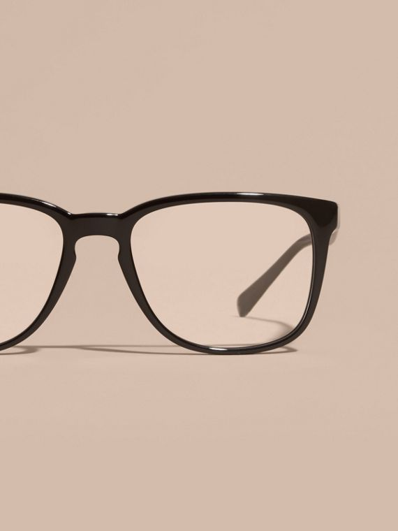 Square Optical Frames in Black - cell image 2