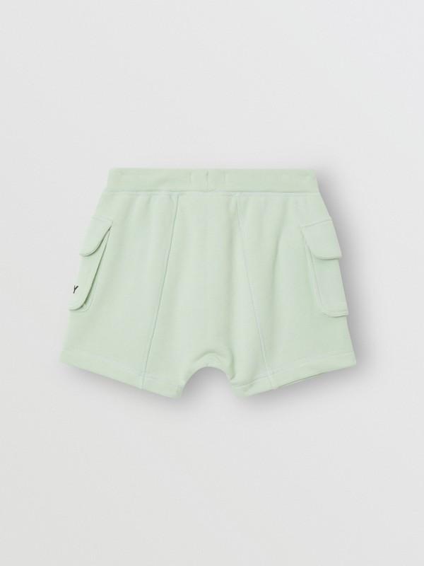 Short à cordon de serrage en coton avec logo (Menthe Pâle) | Burberry - cell image 3
