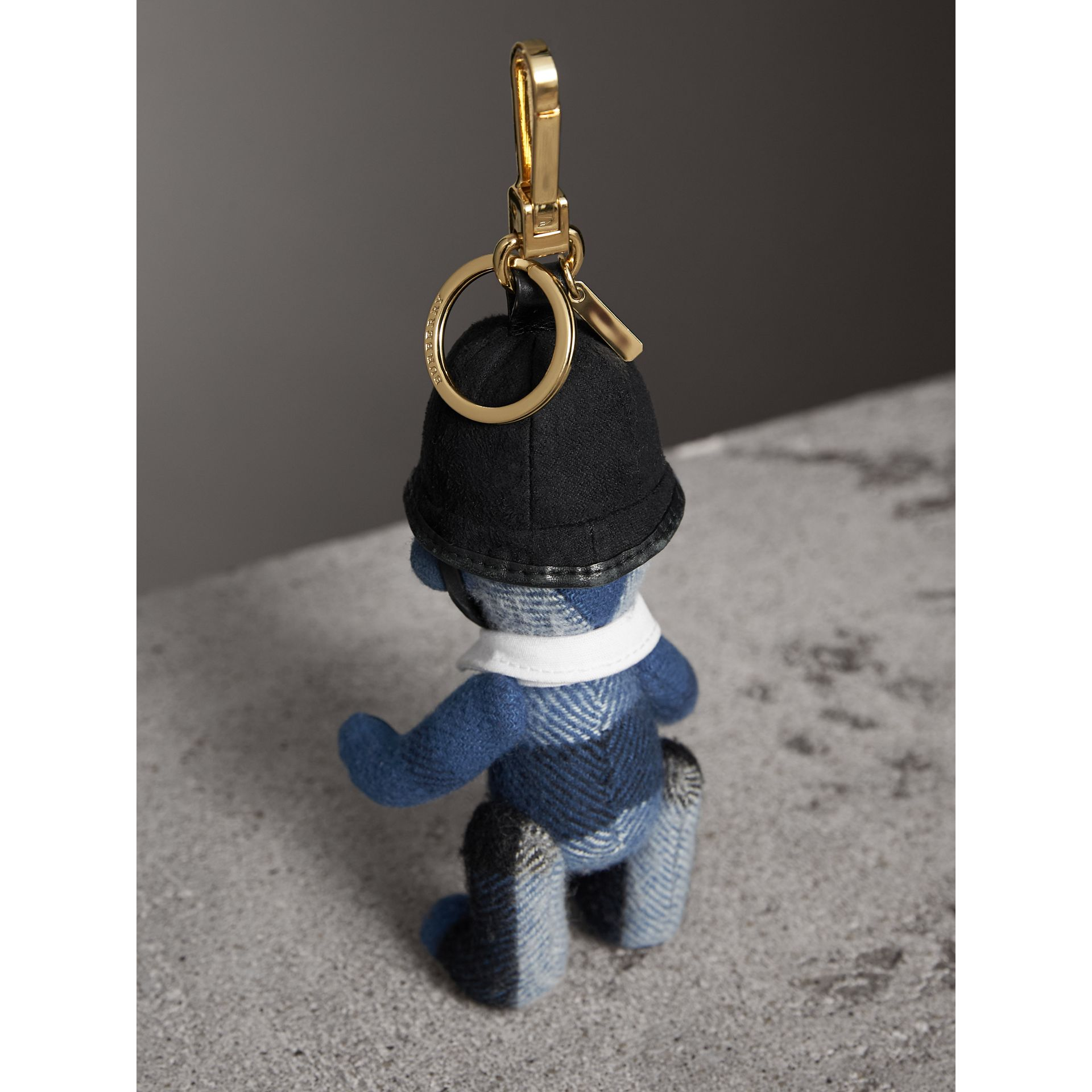 The Bobby Thomas Bear Charm in Cadet Blue | Burberry - gallery image 3