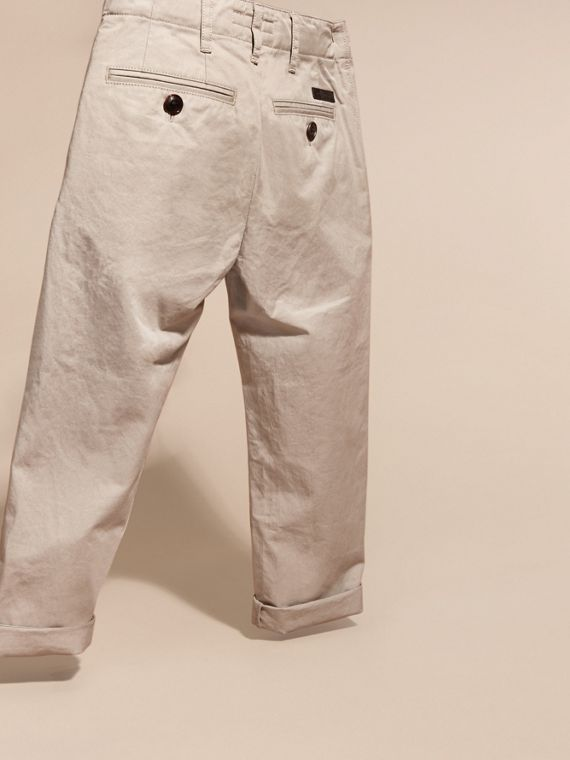 Cotton Chinos in Taupe - cell image 3