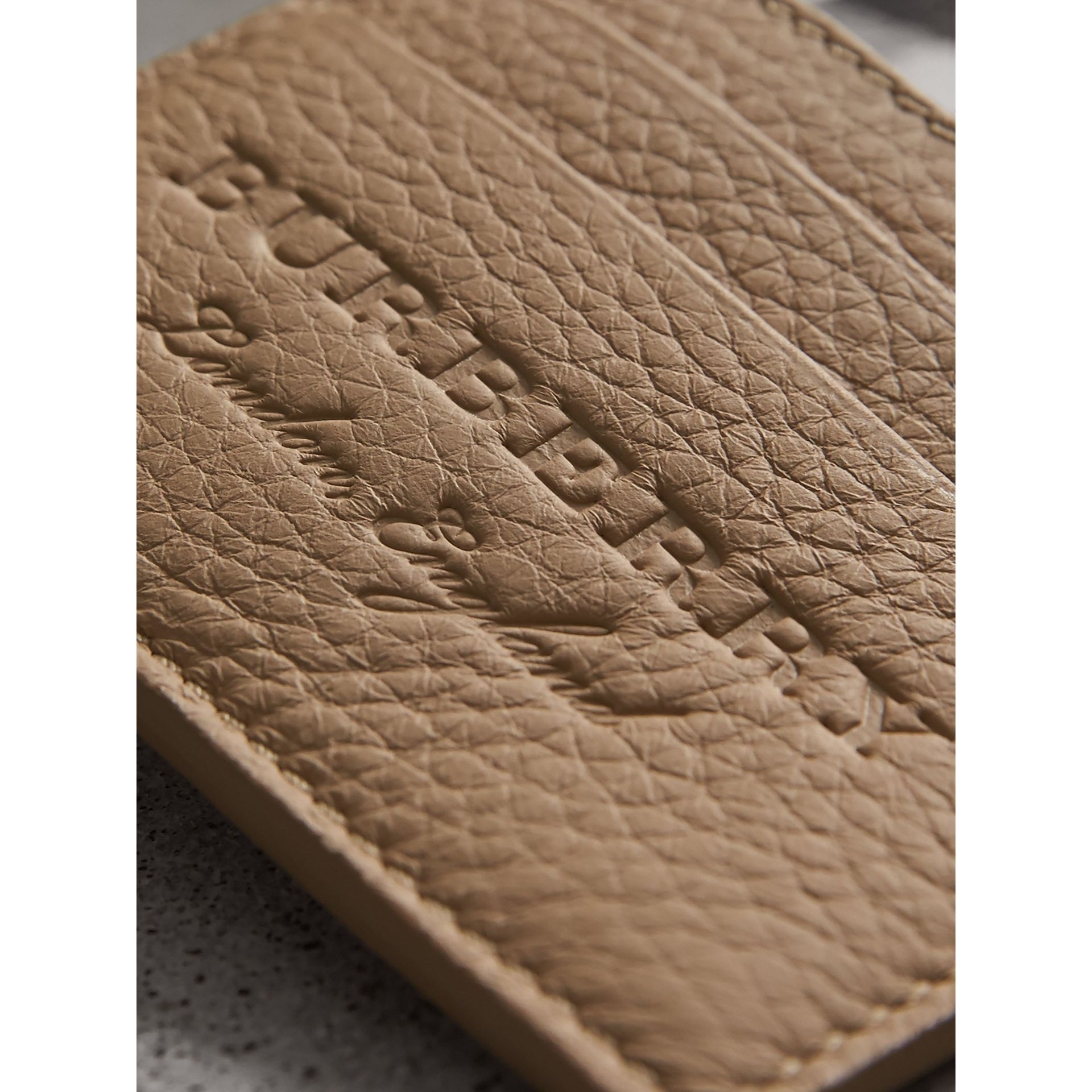 Textured Leather Card Case in Chino - Men | Burberry - gallery image 2