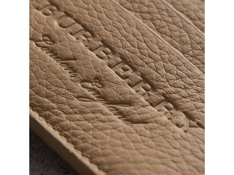 Textured Leather Card Case in Chino - Men | Burberry - cell image 1