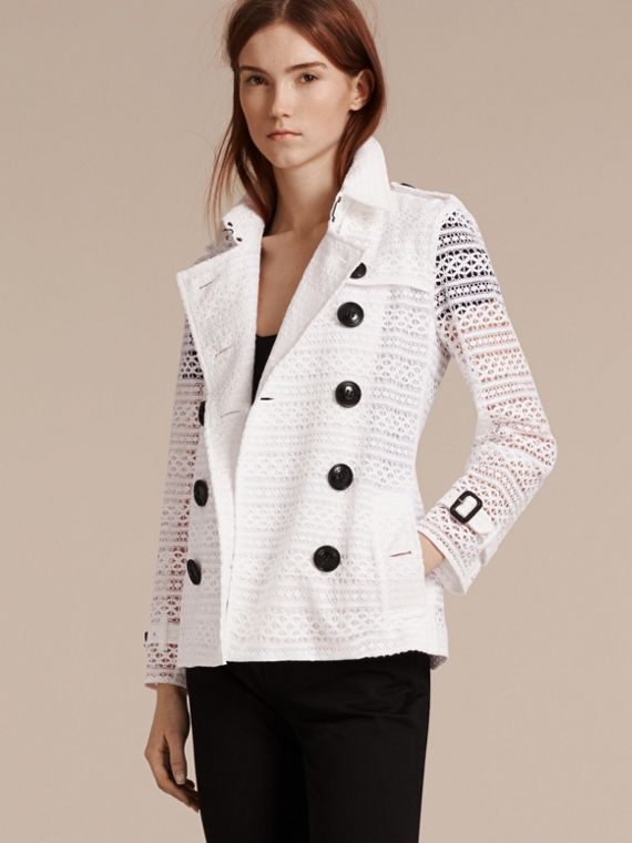 White English Lace Trench Jacket - cell image 3