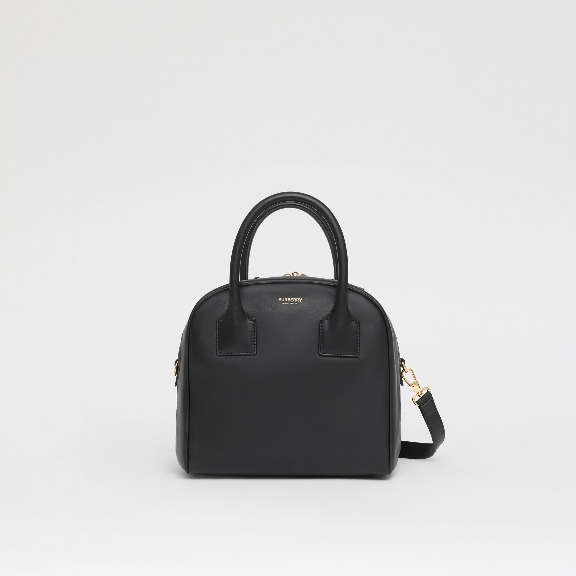Small Leather Cube Bag in Black - Women | Burberry Australia - gallery image 0