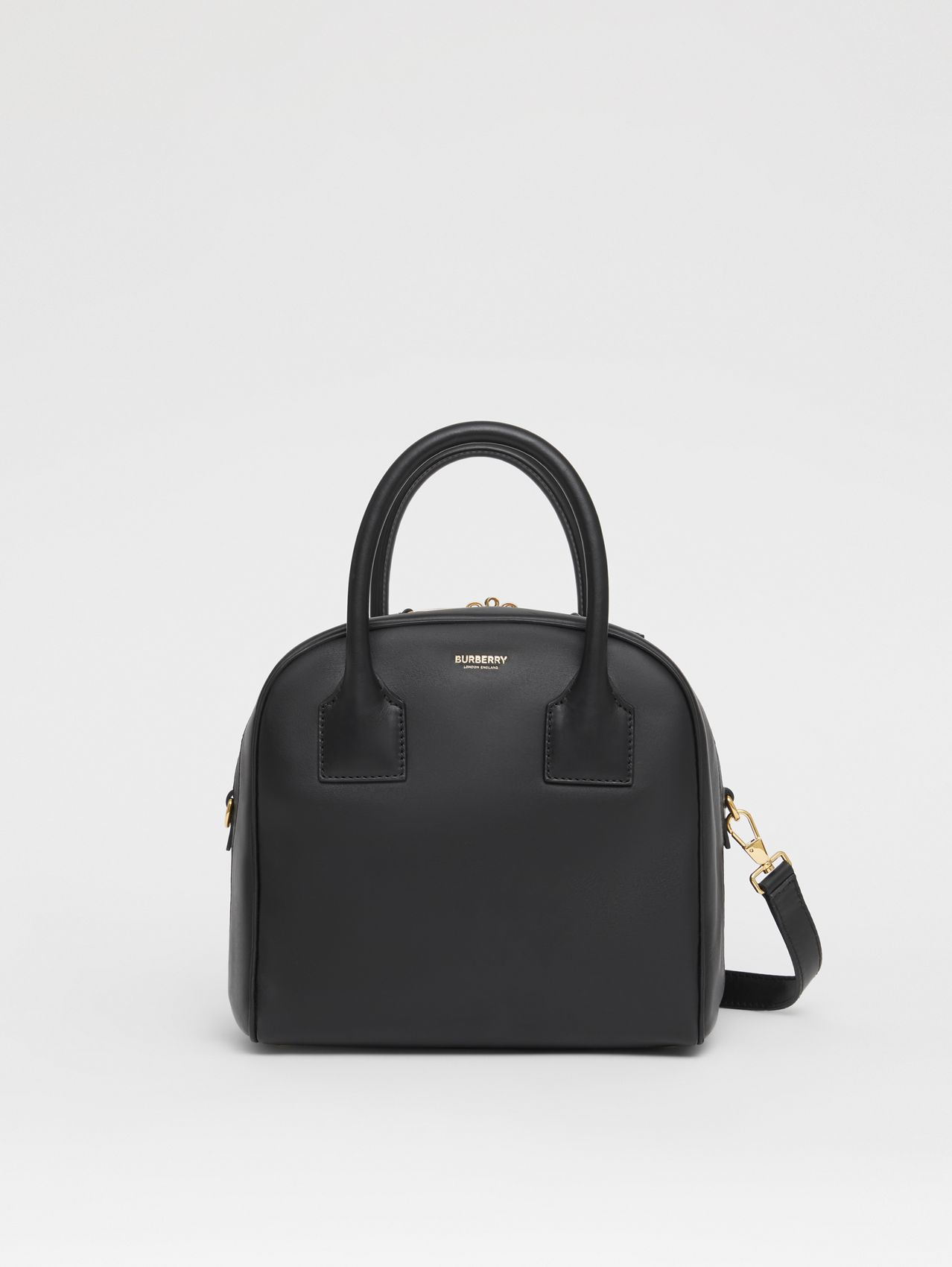 Small Leather Cube Bag (Black)