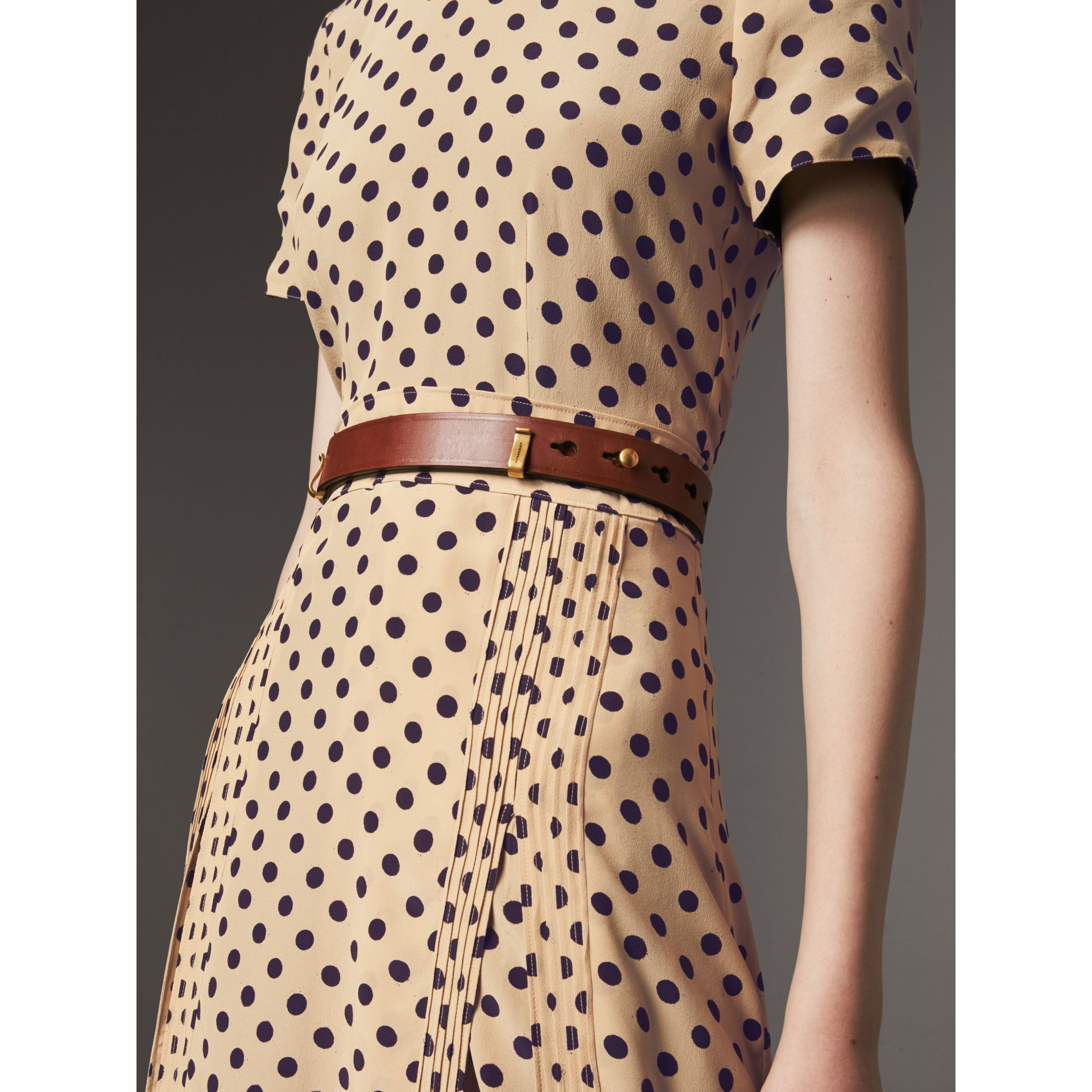 Bridle Leather Belt in Tan - Women | Burberry - gallery image 2