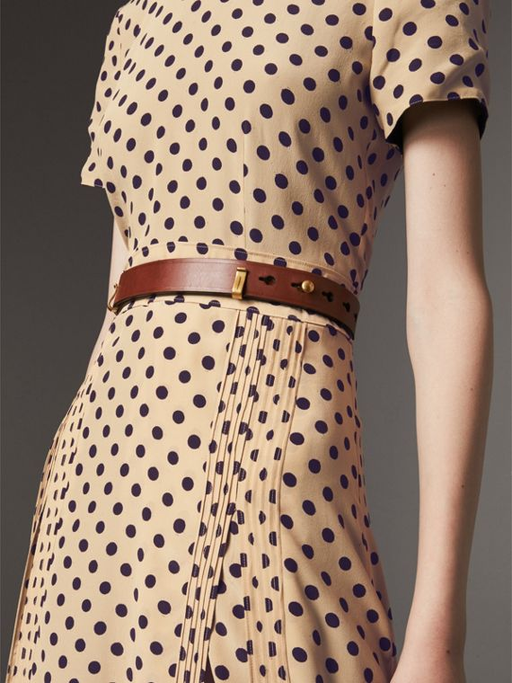 Bridle Leather Belt in Tan - Women | Burberry Singapore - cell image 2