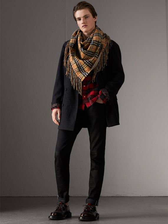 The Burberry Bandana in cashmere con motivo Vintage check (Arenaria)