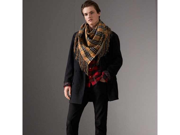 The Burberry Bandana in Vintage Check Cashmere in Sandstone | Burberry - cell image 4