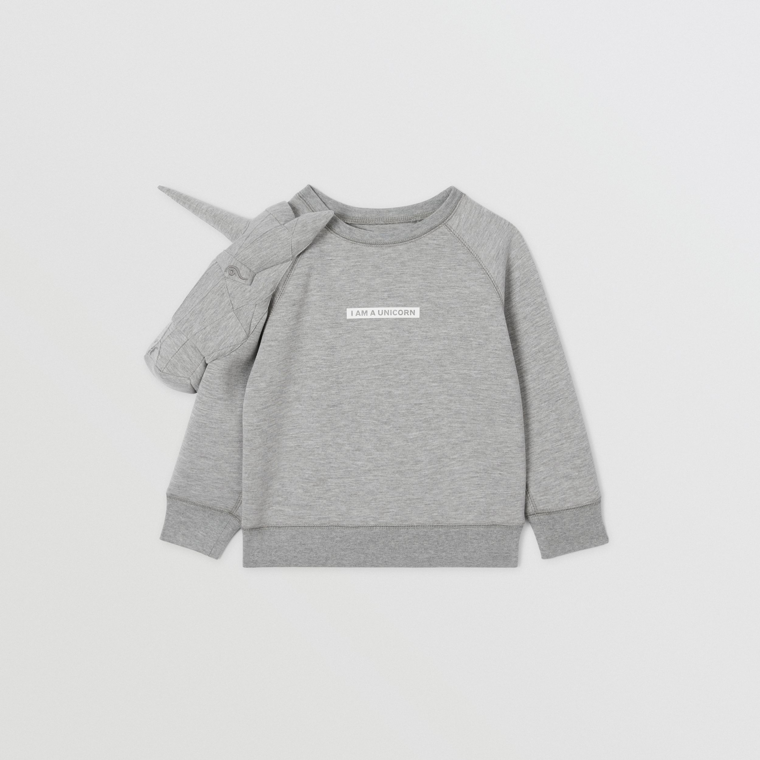 3D Unicorn Sweatshirt – Online Exclusive in Grey Melange | Burberry - 1