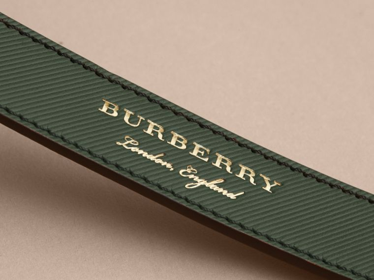 Trench Leather Belt in Dark Forest Green - Men | Burberry Canada - cell image 1