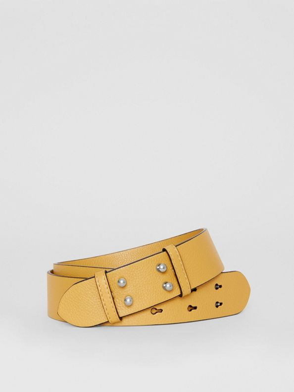 The Medium Belt Bag Grainy Leather Belt in Cornflower Yellow