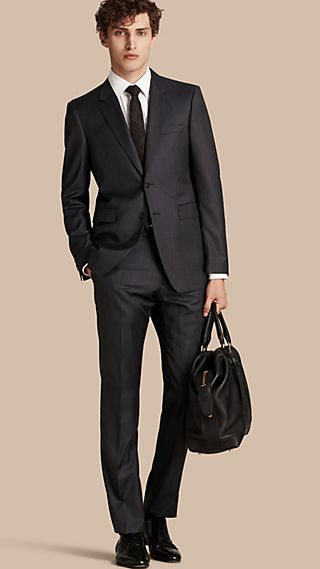 Modern Fit Micro Check Part-canvas Suit