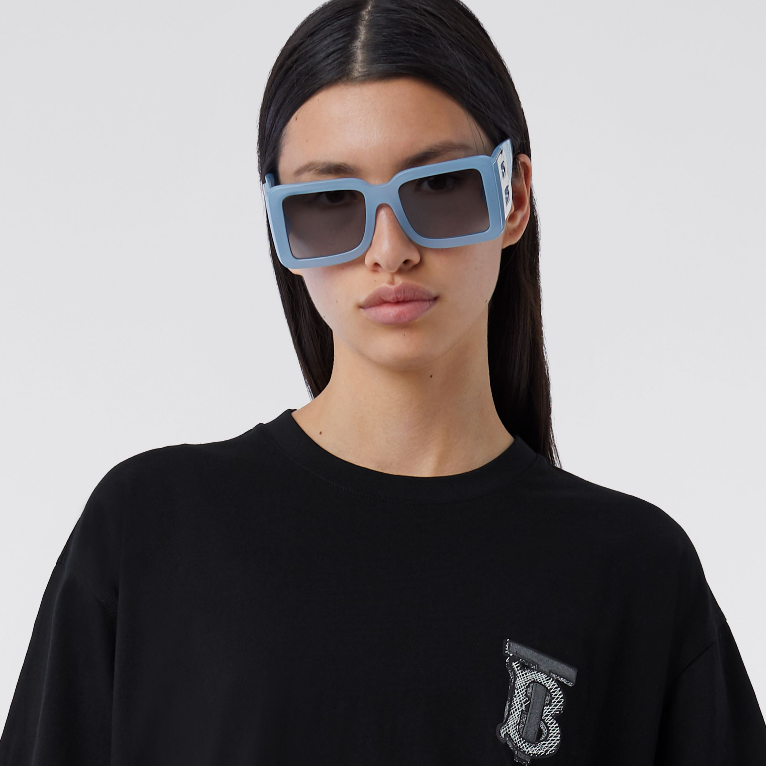 Monogram Motif Cotton T-shirt – Unisex in Black | Burberry - 2
